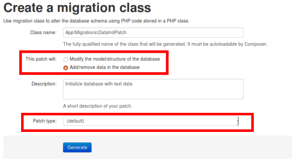 Migration patch